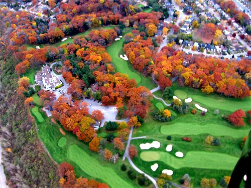 Our colourful canopy from a Global News helicopter by Todd Irvine