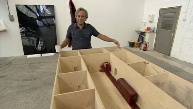 Anish Kapoor discussing the maquette for his installation